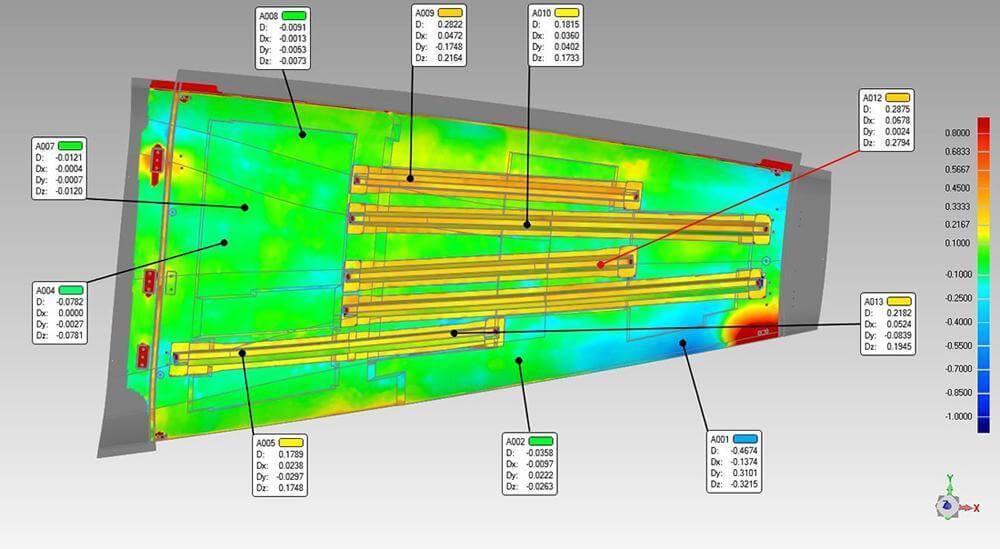 3D scanning aerospace