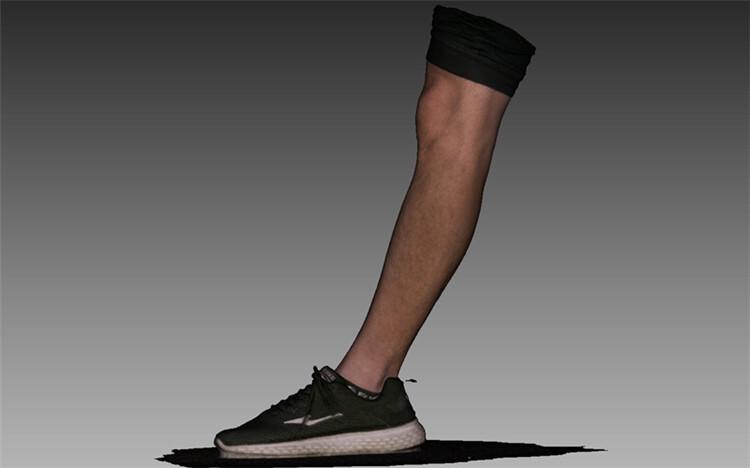 腿部彩色obj数据