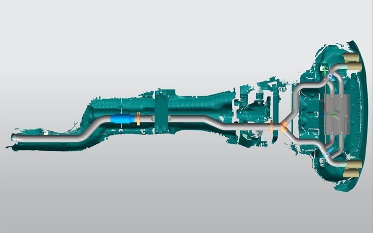 排气系统三维模型
